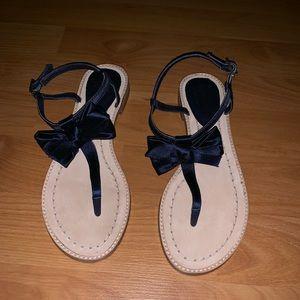 Navy Kate Spade Sandals
